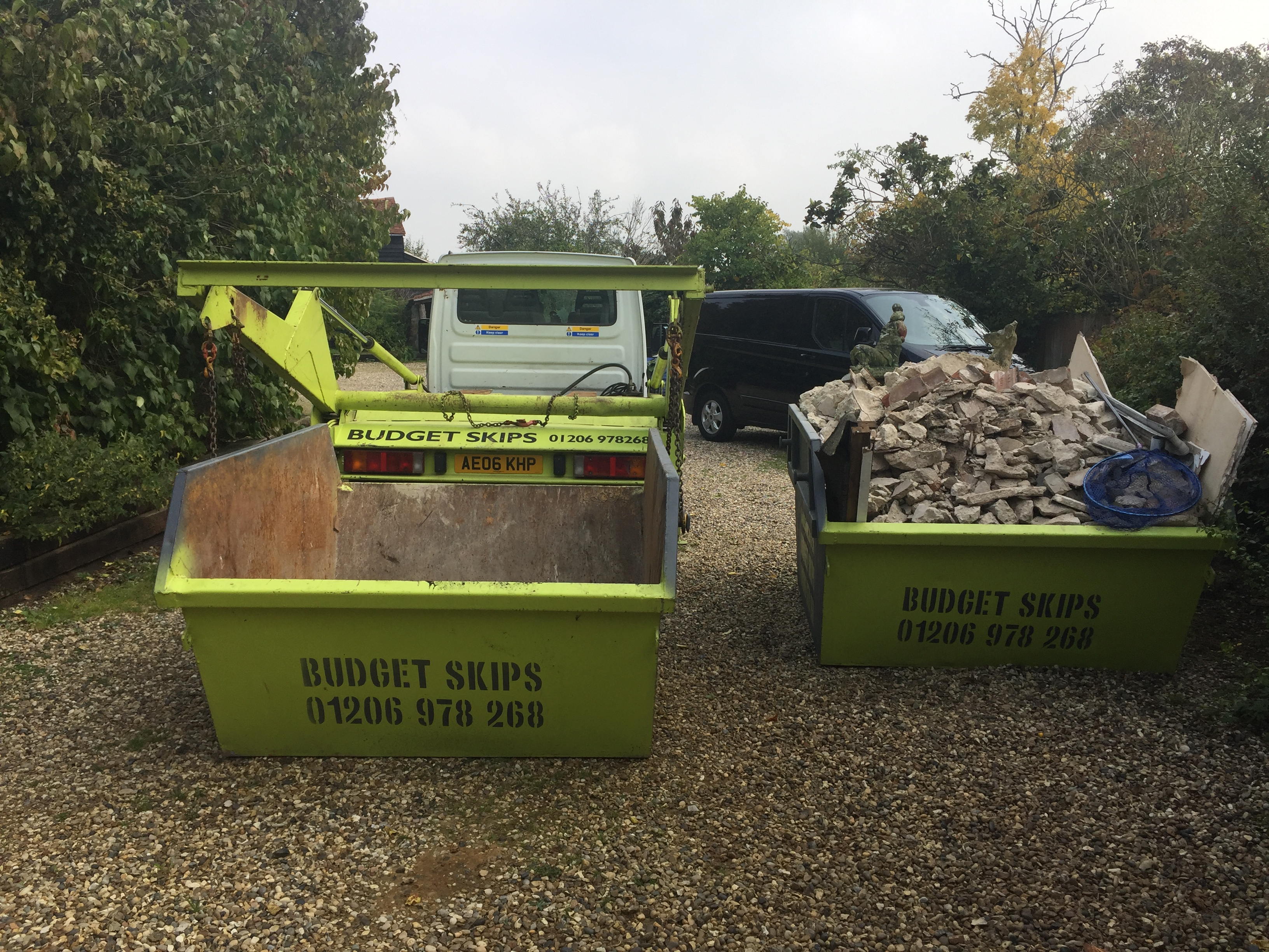 Changeover Skip in West Bergholt